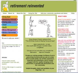 retirementreinvented.com screengrab