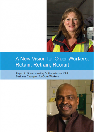 A New Vision for Older People Retain, Retrain, Recruit Report Cover